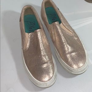 Women's Size 9 Rose Gold Pink Sparkle Boat Shoes